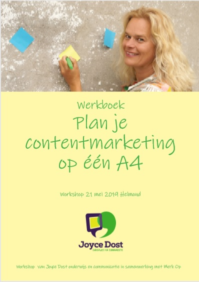 voorkant werkboek plan je contentmarketing